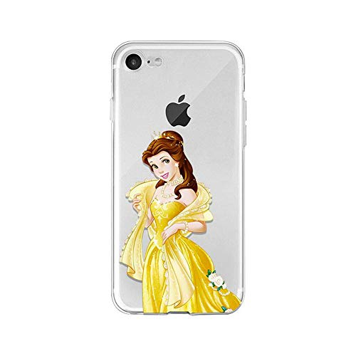 LXXTK Beauty And Beast Belle Princess TPU Soft Cover iPhone Cover A15 for Cover iPhone 6 Plus/Cover iPhone 6S Plus