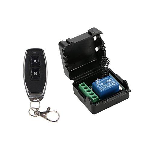 Festnight Wireless Fernbedienung Schalter, 433 MHz DC 12V Universal 1CH Empfänger Modul und RF Sender Fernbedienungen Smart Home Automation