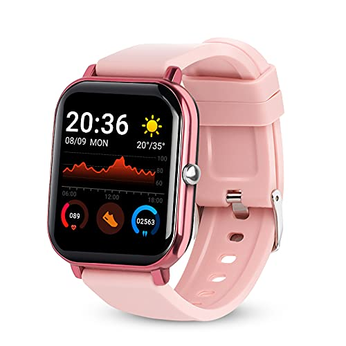 """Smart Watch for Android/iOS Phones,1.54"""" Smartwatch withHeart Rate,Call,Sleep Monitor,Full Touch Screen,Step Counter,Blood Pressure,Blood Oxygen Tracking,IP67 Waterproof Fitness Tracker Watch"""