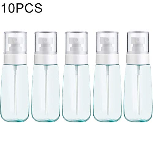 N/B WWTTE 10 PCS portátil Recargable plástica Fina Niebla Botella del Aerosol de Perfume Transparente en Spray pulverizador Botella vacía, 100 ml (Rosa) O (Color : Blue)