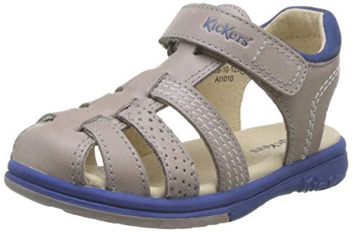Kickers Platinium, Sandales, Gris (Gris Bleu 123), 27 EU
