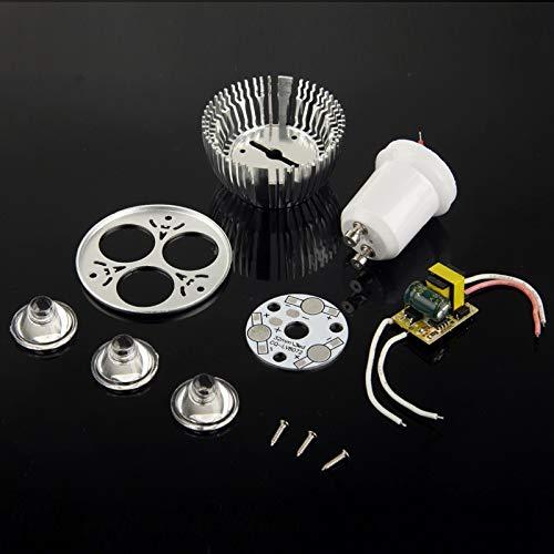 Lampade a led Kit guaina LED GU10 3W fai-da-te in alluminio a 3 faretti Sostituisci le lampadine a LED