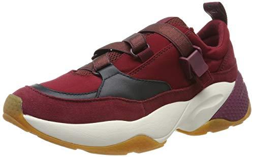 Marc O'Polo Damen 90815233502315 Sneaker, Rot (Bordo Combi 376), 38 EU