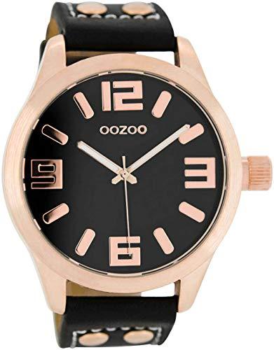 Oozoo XL Armbanduhr Schwarz/Roségold C1159