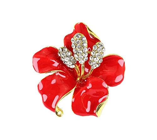 Scrox 1pezzo delicato fiore del giglio Spilla di Caduta del A1-Homes coliri Pin della Donna lavaggio Spilla