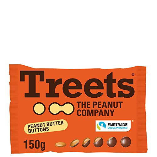 Piasten Treets Peanut Butter Buttons, 150 g