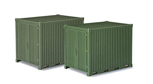 herpa 744713 - Gerätecontainer, Zubehör, 10 Fuß, Fahrzeuge, grün