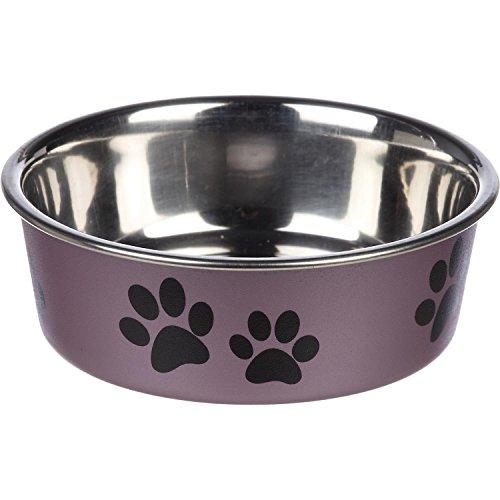 Loving Pets Metallic Bella Bowl, Small, Grape