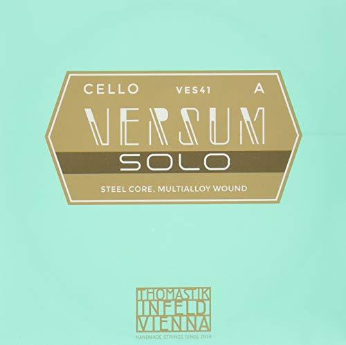 Thomastik Einzelsaite für Cello 4/4 Versum Solo - A-Saite Stahldraht, Umspinnung aus Speziallegierung, mittel