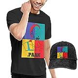ANNAA NAME Men's Black Short Sleeve Shirts, Anderson-Paak Casual T Shirt + Baseball Cap