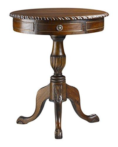 Moycor Vintage Tisch rund Chippendale, 2Schubladen, 60x 70cm