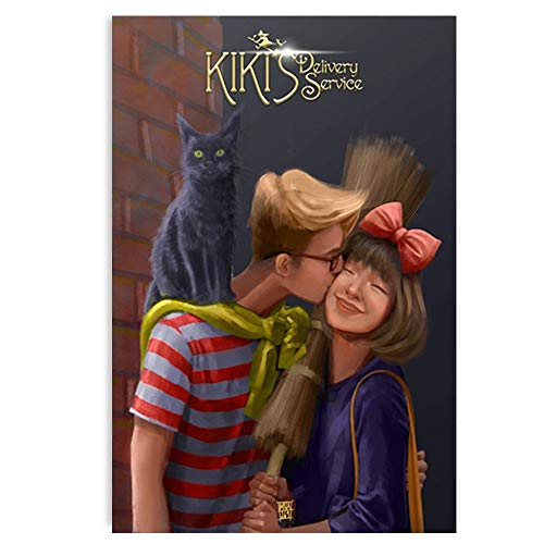 Interesting painting Kiki's Delivery Service Anime Poster Print Canvas Art Printing Home Decoration Poster Print Room Poster Frame Poster Canvas (Unframe-style1,24x36inch(60x90cm))