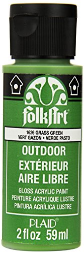 FolkArt Outdoor Acrylic Paint in Assorted Colors (2 Ounce), 1626 Grass Green