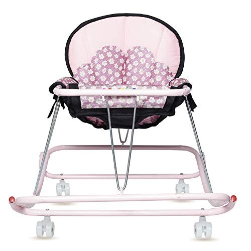 GoodLuck Baybee Kids Round Walker Cum Rocker   Hanging Walker Foldable Walker Suitable for Boys and Girls 6-18 Months - Pink