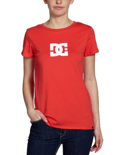 DC Shoes  - Camiseta para Mujer, tamaño 42, Color Rojo/Blanco
