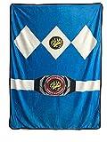 Power Rangers Blue Ranger Fleece Soft Throw Blanket