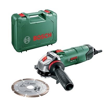 Foto di Bosch Home and Garden 06033A2401 PWS 750-115 Smerigliatrice Angolare, Sistema Dust Protection, Valigetta, 750 W