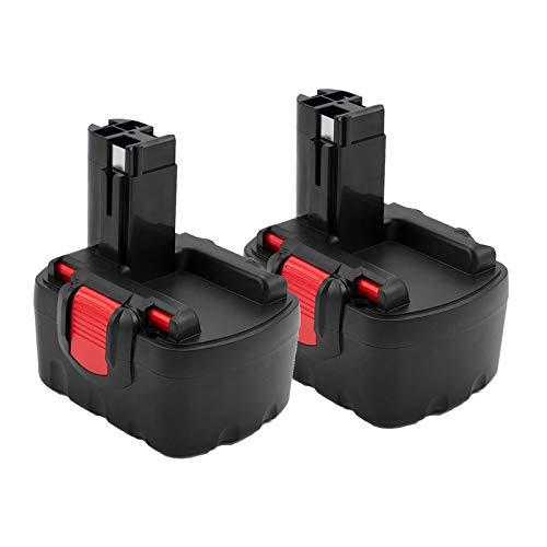 Creabest 2 Pack 3.5Ah Ni-MH 14.4V Battery Compatible with Bosch BAT038 BAT040 BAT041 BAT140 BAT159 13614 2607335275 2607335533 2607335534 2607335711 2607335465 2607335685 2607335678 2607335276