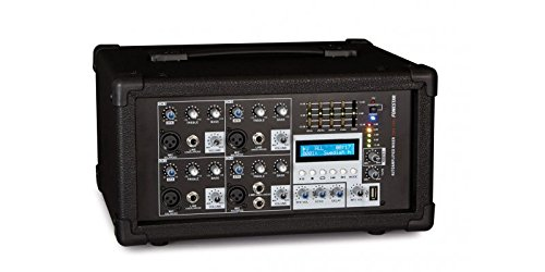 Fonestar sma-154u 4canales 20–20000Hz negro mesa de mezclas audio–Mesas de mezclas de audio (4canales, 20–20000Hz, 8Ohm, 4Ohm, LCD, SD)