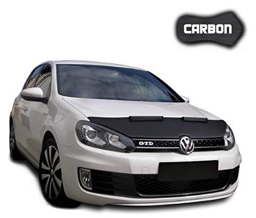 Haubenbra Golf 6 CARBON Automaske Car Bra Steinschlagschutz TUNING Maske Steinschlagschutzmaske