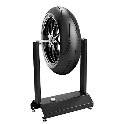 COSTWAY Dispositivo Equilibradora de Ruedas de Motos Soporte de Equilibrado Conos Regulables para Centrado para Casa Taller
