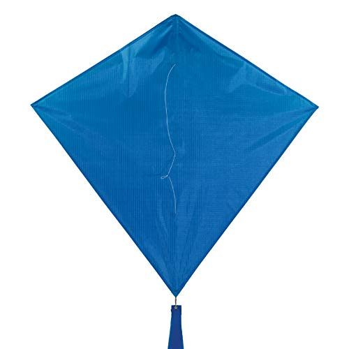 In the Breeze 3294 - Blueberry 30 Inch Diamond Kite - Solid Blue, Fun, Easy Flying Kite