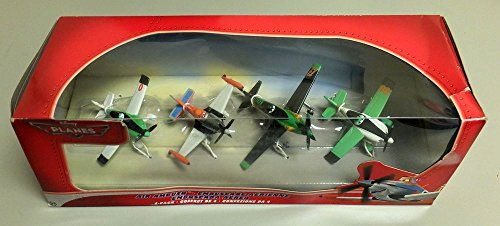 Disney Planes 4er Set Air Ambush Flieger Set - Dusty, Zed, Ned, Ripslinger - Y8339