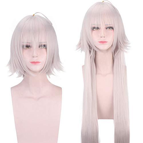 Anime Fate/Grand Order Jeanne D'Arc Alter peluca Cosplay disfraz Juana de Arco mujeres peluca de pelo sinttico resistente al calor + gorra de peluca gratis