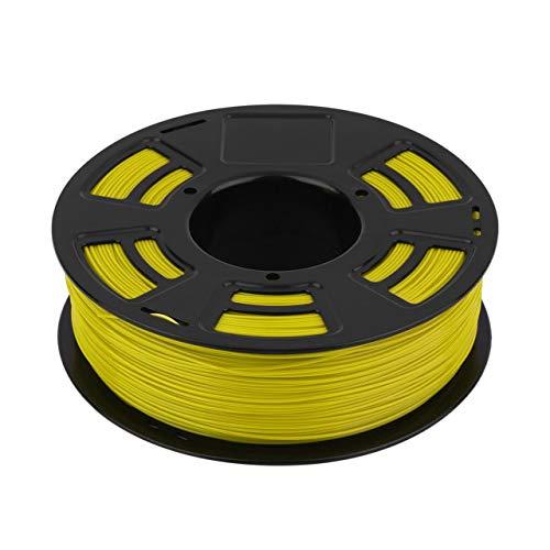 One Roll 1KG 1.75mm ABS Filamento Impresora 3D Material de impresión Suministros Rollo Adecuado para Impresora 3D Pluma Impresora 3D (amarillo) Jasnyfall