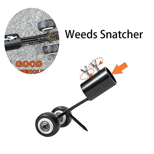 YZG LIFE 2-in-1 Weeds Snatcher, Gartengrasschneidemaschine Tool,Weed Puller Manueller Stand Up Weeders Rasenmäher Sie müssen Sich Nicht bücken, um Unkraut leicht aus dem Boden zu ziehen