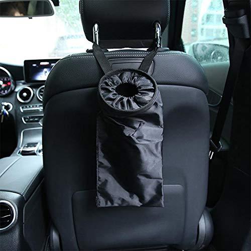 ETbotu auto zitzak, draagbaar, vuilnisemmer, opbergdoos, waterdicht, stof, zwart