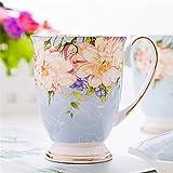 ZZLLFF Hueso Pastoral China Capacidad Grande Café Taza Café Cerámica Creativa Pintado a Mano Floral Tienda de té Vintage Ceremonia de té (Color : A01)