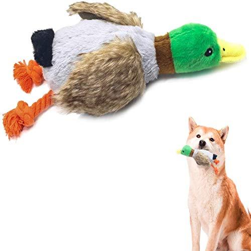 A Forma di Anatra Giocattoli da Masticare per Cani Durevoli in Peluche,Giocattoli per Cani Giochi con Squeak,Adatto per Cani di Piccola Taglia e Cani di Media Taglia
