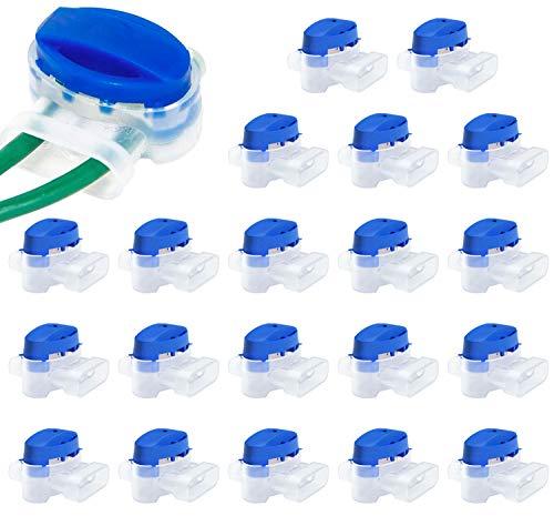 LOVEXIU Conectores de Cable, Conector de Cable con Gel, 20 pcs Conector de Cable para Robot, Juego de Conectores de Cable para Cortacesped Robot para Jardín de Cortacésped Robótico para Exteriores