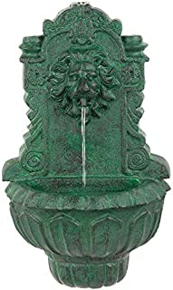 Wall Mounted Water Fountain - Casa Del Lago Lion Fountain - Outdoor Water Feature Wall Niche