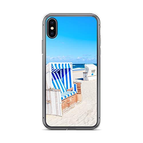 blitzversand Handyhülle NORDSEE WATT kompatibel für Huawei G8 Mini Sylt Strandkorb Schutz Hülle Case Bumper transparent rund um Schutz M10