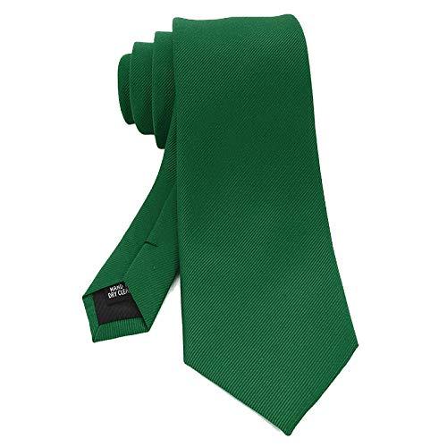 Neckties Diseño Clásico Hombres Corbata 8Cm Seda Jacquard Corbata Sólido Verde Rojo Negro Lazos Para Hombre Negocio Boda Fiesta Regalo