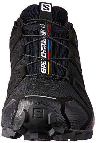 Salomon Women's Speedcross 4 Trail Running Shoes, Black/Black/BLACK METALLIC, 8