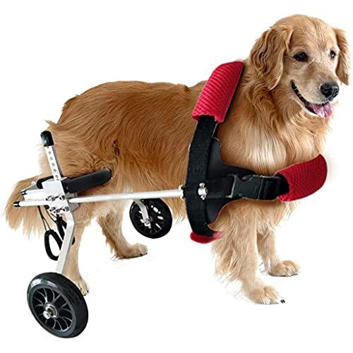 XuSong Arnés de Movilidad de Perros, cochecitos para Perros, Perro Silla de Ruedas para Perros Mobility Harness Soporte Trasero Carro Ajustable Mascota, Gato Perro Silla de Ruedas Pierna Trasera