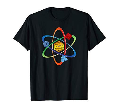 RPG Würfel Atom Cube Brettspiel Dice Dragons Pen and Paper T-Shirt