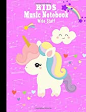 Kids Music Notebook Wide Staff: Blank Sheet Music Composition and Notation Manuscript Book /Staves Paper/Music Composing / Songwriting/Piano/Guitar/Violin/Keyboard