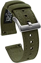 20mm Army Green - Barton Canvas Quick Release Watch Band Straps - Choose Color & Width - 18mm, 19mm, 20mm, 21mm, 22mm, or 23mm