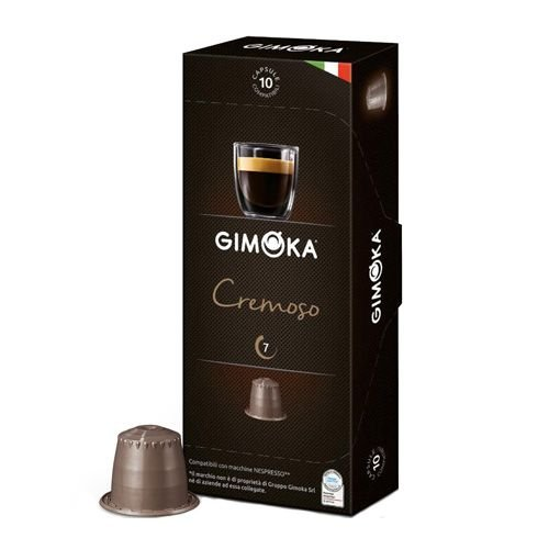 Gimoka Coffee 100er Pack Nespresso kompatible Kapseln, Nespressokapseln-kompatibel für Nespresso Maschinen-Kaffeekapseln-Mischkarton 10x10 Kapseln, Cremoso