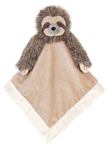 Bearington Baby Speedy Snuggler, Sloth Plush Stuffed Animal Security Blanket, Lovey 15'