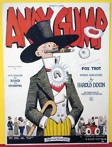 ANDY GUMP FOX TROT 1923 SIDNEY SMITH SHEET MUSIC