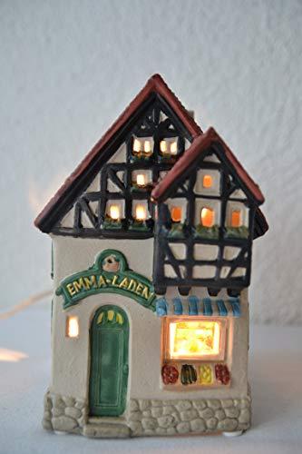 Maison en France orginelles Lichterhaus- Weihnachtshaus Teelicht- Tante Emma Laden - das Licht zaubert eine schöne stimmungsvolle Atmosphäre