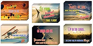 Creanoso Inspirational Sayings Air Travel Postcards (60-Pack) - Great Premium Greeting Card Giveaways for Travelers – Card...