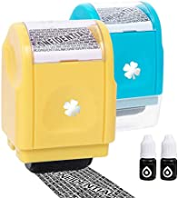 Vantacent89 Roller Stamp Identity Theft Protection Roller Stamp Confidential Address Blocker Anti Prevention 2set (Blue-Yellow)