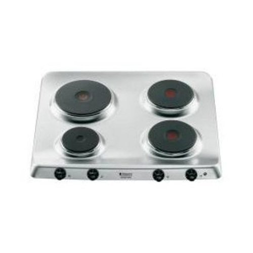 Hotpoint PF 604 (IX)/HA hobs Integrado Hornillo eléctrico / - Placa (Integrado, Hornillo eléctrico/Placa eléctrica, Acero inoxidable, Giratorio, Frente, 5600 W)