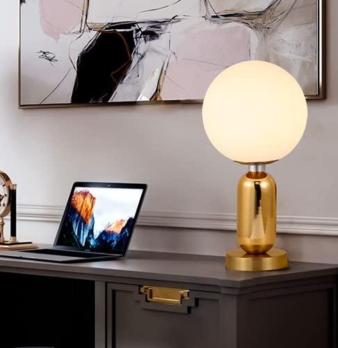 Moderno minimalista lampada da tavolo Creativo d'oro nordico personalità Lampada da scrivania Bicchiere Paralume E27 * 1 salotto Camera da letto Lampade da comodino Decorazione Ø20 * H39cm